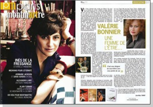 * Page de Couverture et article magazine Paris Montmartre